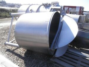 350 Gallon Stainless Steel Cone bottom Tank