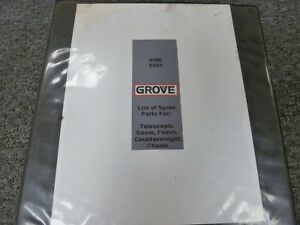 Grove Model Gmk6300 All Terrain Mobile Crane Parts Catalog Manual Book