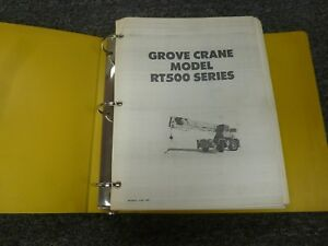 Grove Model Rt515 Rough Terrain Mobile Crane Shop Service Repair Manual