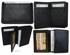 Lot Of 4 Business Card Case Up To 50 Cards Id Card Natural Grain Leather