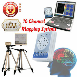 Ce Digital eeg Machine 16 Channel and Mapping System Kt88 1016 2 Tripods New Hot