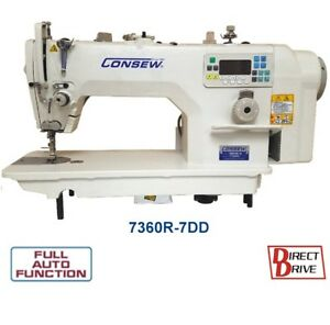 Consew 7360r 7dd Direct Drive High Speed Single Needle Sewing Machine With Table