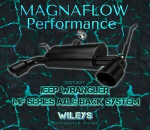 Magnaflow 15160 Axle Back Dual Exhaust System For 07 18 Jeep Wrangler Jk
