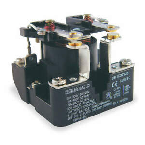 Square D Open Power Relay 6 Pin 240vac dpst no 8501co7v24