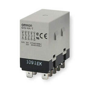Omron Enclosed Power Relay 10pin 24vdc 4pst no G7j 4a t w1 dc24