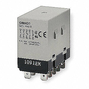 Omron Enclosed Power Relay 10pin 24vac 4pst no G7j 4a t w1 ac24
