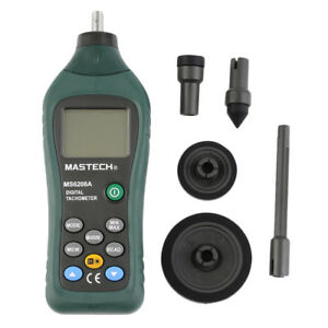 Ms6208a Contact Digital Tachometer Rpm Meter Rotation Speed 50 19999rpm
