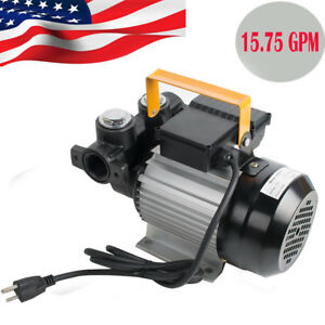 15 75gpm 550w Portable Electric Diesel Oil And Fuel Transfer Pump Motor Hot Sale
