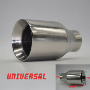 Universal Thickened Edition Chrome Car Exhaust Muffler End Tip Pipe Tail Throat
