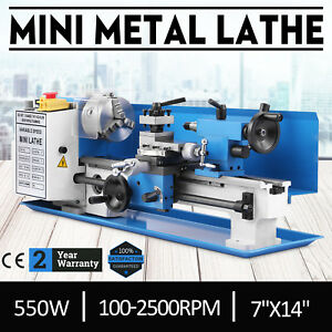 Brushless Motor Mini Metal Lathe Woodworking Tool Bench Top 550w Automatic