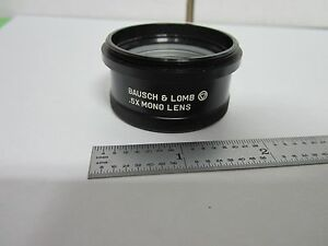 Microscope Part Bausch Lomb Stereo 0 5x Optics As Is Bin p6 12