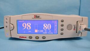 Masimo Radical Spo2 Monitor New Battery Cables And Dock Rds 3 Tested W Warranty