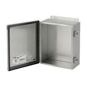 Hoffman Enclosure mtlc 14in hx 12in wx6in d A1412chnfss Stainless Steel