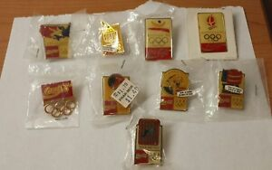 1992 Coca Cola Olympic Pin Set- 9 pins