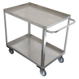 Grainge Stainless Steel Unassembled Utility Cart ss 29 L 1200 Lb 11a454 Silver