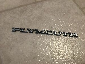 70 76 plymouth Tail Panel And Hood Emblem