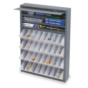 Durham Steel Bin Dispensing Cabinet tilt Out gray 590 95 Gray