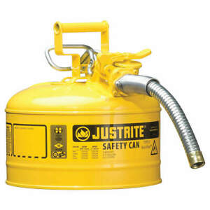 Justrite Type Ii Safety Can 12 In H yellow 7225230