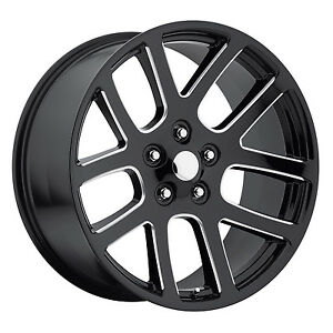 4 24 24x10 Srt10 Style Fits 2002 Up Dodge Ram 1500 Wheels Rims Ball Milled