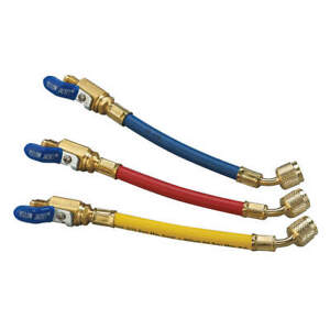 Yellow Jacket Manifold Hose Set 9 In red yellow blue 25980 Red Yellow Blue