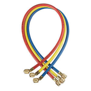 Yellow Jacket Manifold Hose Set 36 In red yellow blue 21983 Red Yellow Blue