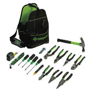 Greenlee Electricians Tool Kit 17 Pcs caddy 0159 17elec