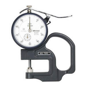 Mitutoyo Dial Thickness Gage flat 10mm X 0 01mm 7301