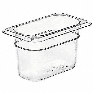 Cambro Polycarbonate Food Pan Ninth Size Clear pk6 Ca94cw135