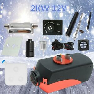 2000w 2kw 12v Air Heater Single hole Switch With Muffler Universal Tank Vent Ce