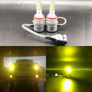 New H8 H9 H11 H16 3000k Yellow 8000lm Cree Led Headlight Bulbs Kit High Low Beam