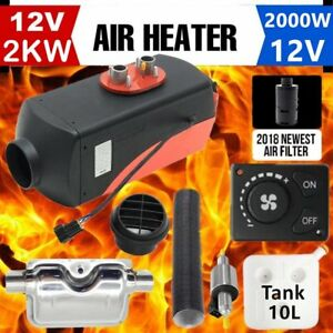 2000w 2kw 12v Air Heater Single hole Switch With Muffler Universal For Tank Er