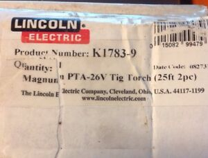 Lincoln Electric K1783 9 Tig Torch Magnum 200a For 300d Sae 500