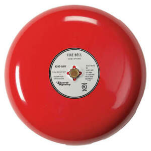 Edwards Signaling Fire Bell red 10 In 20 To 24v 439d 10aw r