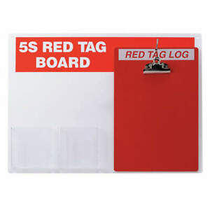 Brady Acrylic Red Tag Station With Clipboard unfilled 122049 Red white
