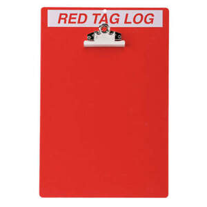 Red Tag Clipboard 122050