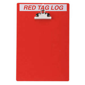 Brady Red Tag Clipboard 122050 Red white