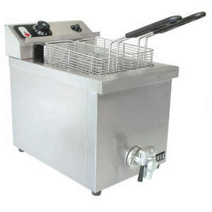 Vollrath Stainless Steel Electric Counter Top Fryer 11 1 2 X 21 40709
