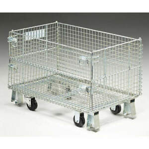 Nashville Wir Steel Wire Mesh Collapsible Container 20 In L silver Jr1c Silver
