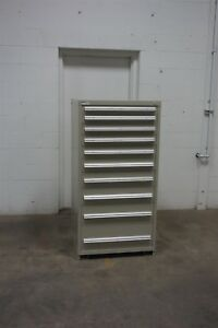 Used Stanley Vidmar 10 Drawer Cabinet Industrial Tool Storage 643