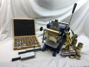 Aamstamp M 2000 Hot Foil Gold Stamping Machine Manual Lettering