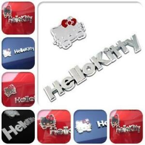 Hello Kitty Metal Car Sticker Cute 3d Emblem Decal Accessories Motorcycle Badg
