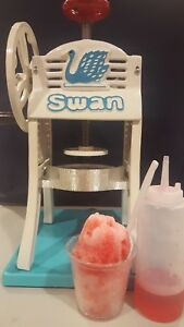 Shave Ice Machine Syrups And Untensils