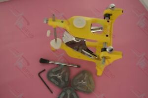 Dental Lab Anatomic Aluminium Yellow Articulator Dentist Lot Of 10 Pcs