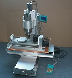 2 2kw Cnc 3040 5 Axis Table Column Type Engraving Marking Machine Router 110v