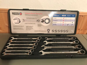 Matco Tools 10 Piece 90 Tooth Extra Long Metric Reversible Ratcheting Wrench
