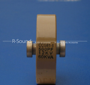 1pc Ccg81 1 500pf 12kv 60kva High Voltage Ceramic Capacitor