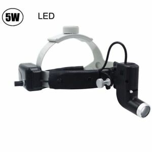 5w Dental Surgical Led Headlight Lamp Good Light Spot Headband Lamp Black Dy 006