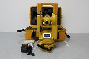 Topcon Dt 20 Digital Electronic Theodolite Bundle Free Shipping