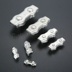 Durable Stainless Steel 2mm 10mm Duplex 2 post Wire Rope Clamp Cable Grips Clip