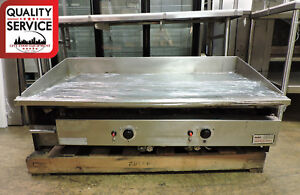 Keating 48bfld Miraclean Commercial Gas Chrome Griddle